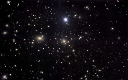 a rather lovely shot of stars in the night sky