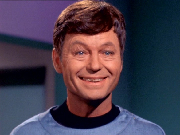 A very chipper-looking Bones McCoy.