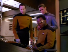 Geordi Data Wesley crunching numbers