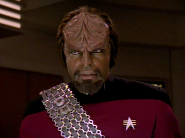 Worf looking fierce