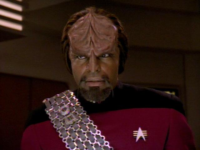 Worf looking fierce