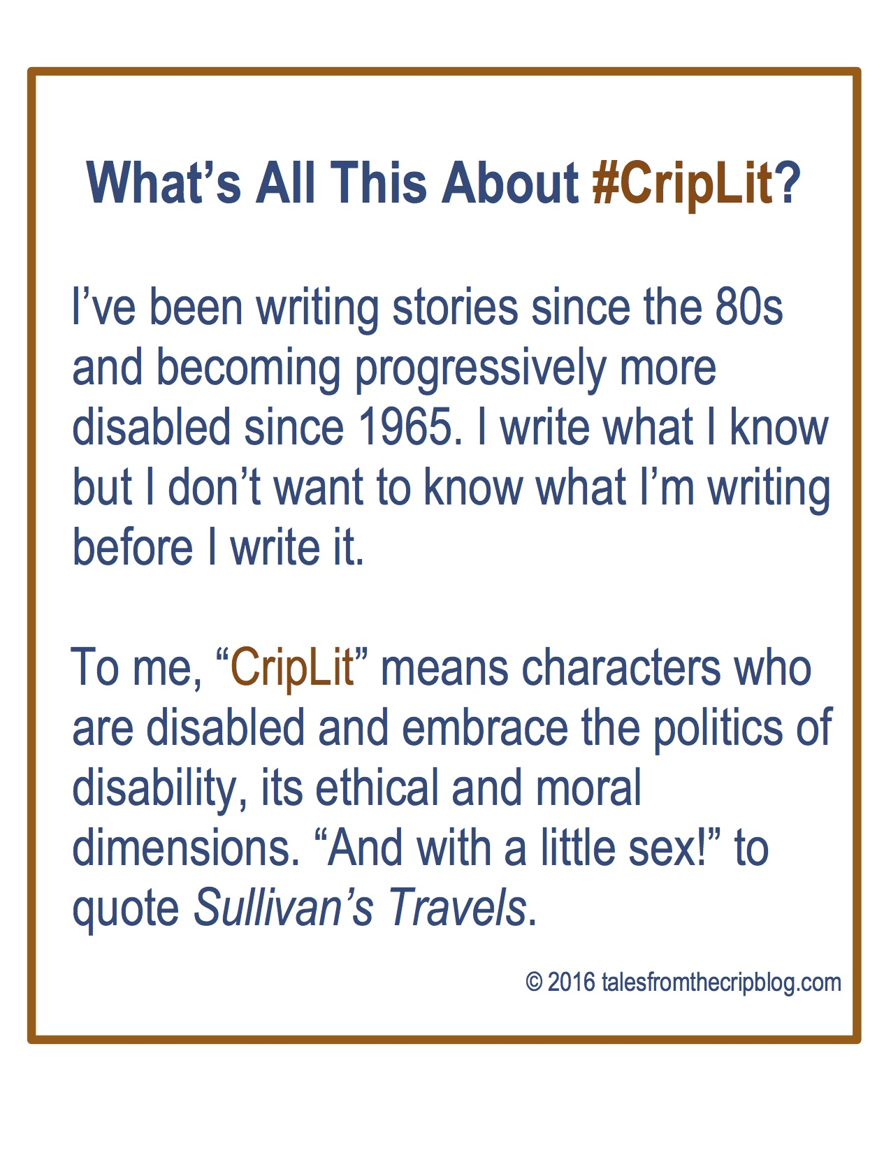 What #CripLit Means To Me (and How It Differs From #DisLit) | Tales