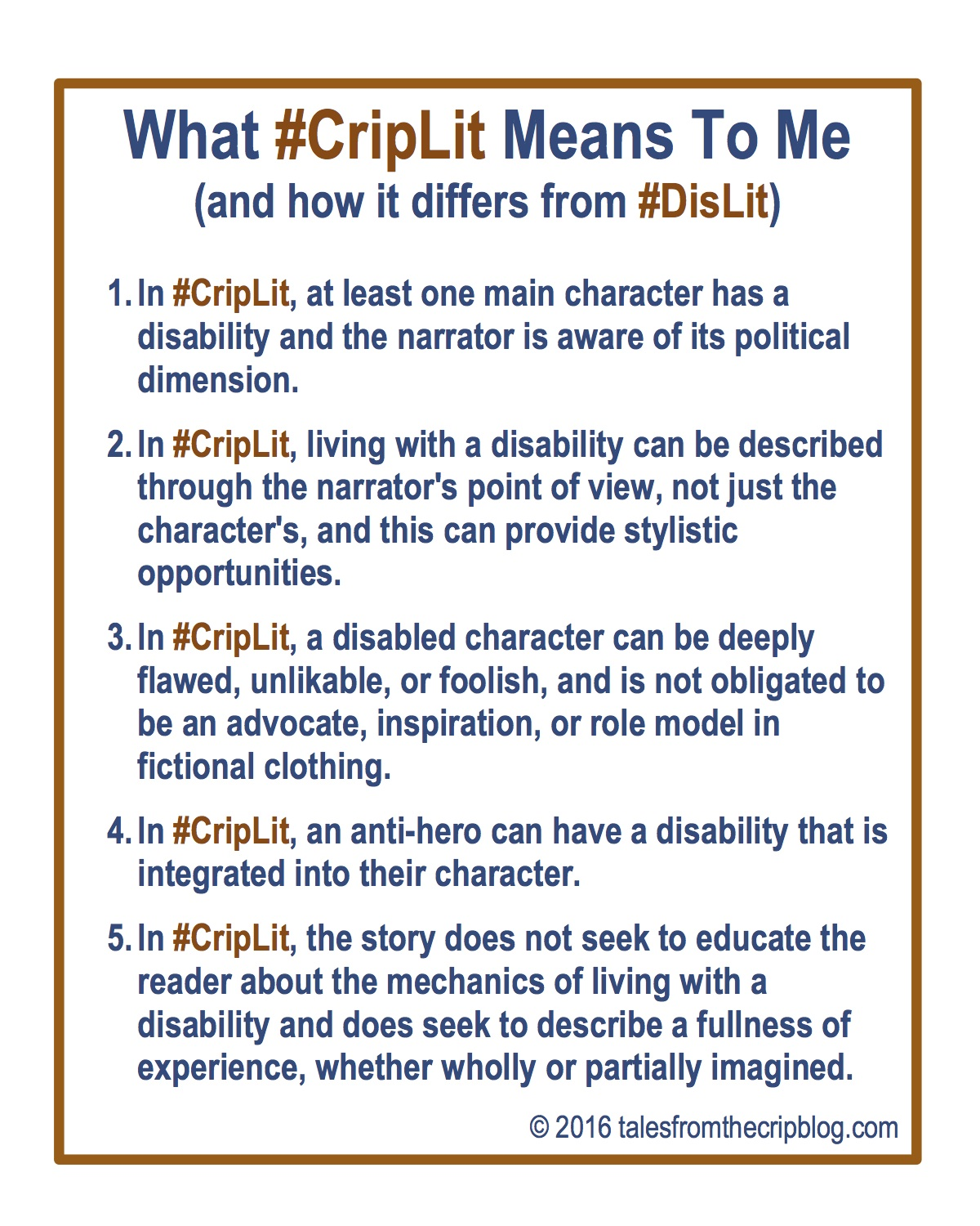 What #CripLit Means To Me (and How It Differs From #DisLit