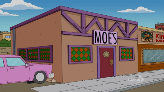 Exterior of Moe's Tavern
