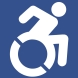 Access icon in blue and white